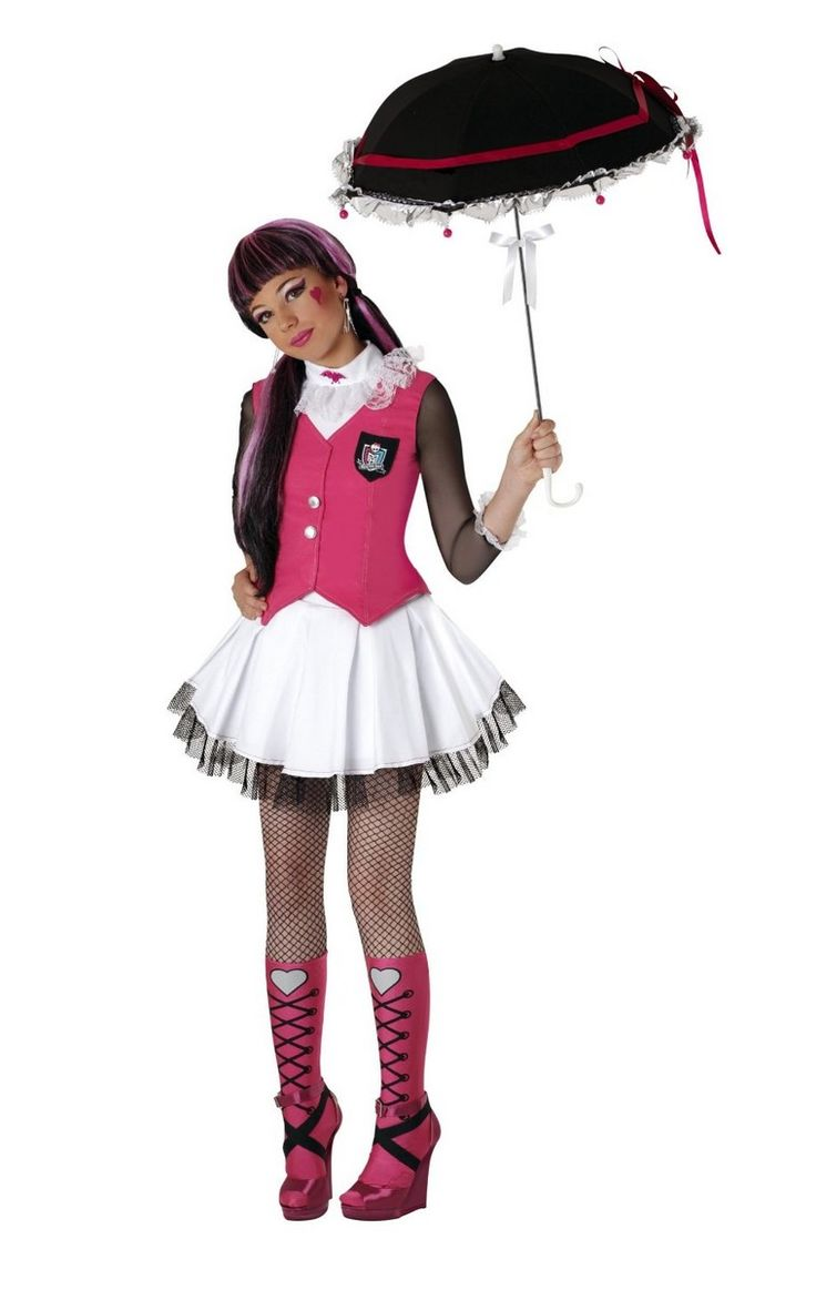 Plus size monster high costumes d guisement draculaura monster high costume halloween fille - Deguisement halloween sexy ...