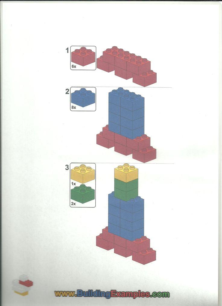 Bouwplan; lego; raket maken