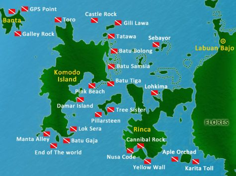 Diving in the Komodo National Park dive sites