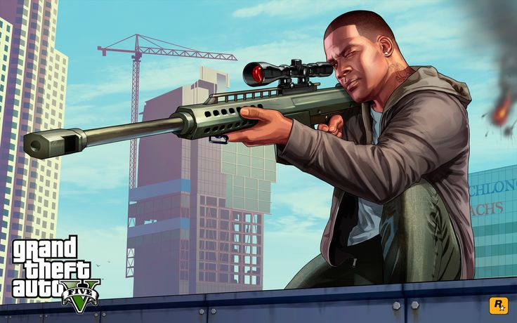 Franklin Sniping GTA 5 - http://1sthdwallpapers.com/franklin-sniping-gta-5-hd-wallpapers/