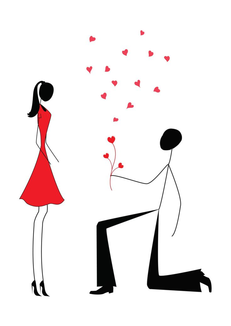 proposing Stick Figures | ... man proposing to a woman while standing on one knee, stick figures