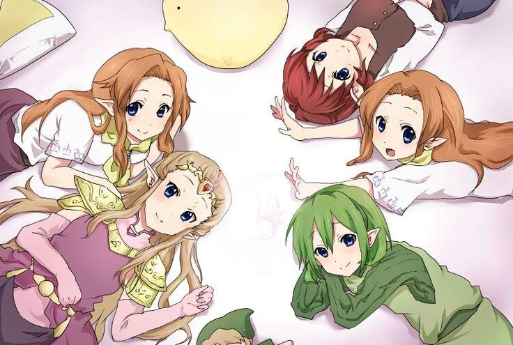 Saria, Zelda, Malon, Cremia, & Anju (Legend of Zelda) *could be Romani*