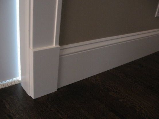 Craftsman Baseboards, The Doors, Craftsman Moldings, Based Boards, House Ideas, Doors Cases, Tall Baseboards, Diy Home, Plinth Block