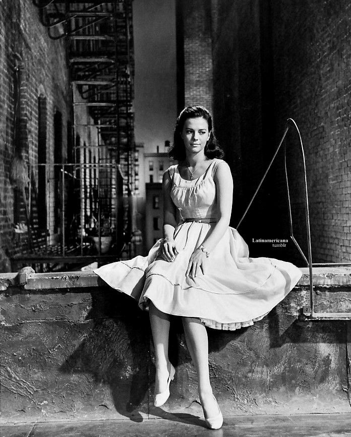 Natalie Wood in West Side Story - our very first movie - pretty revelant.