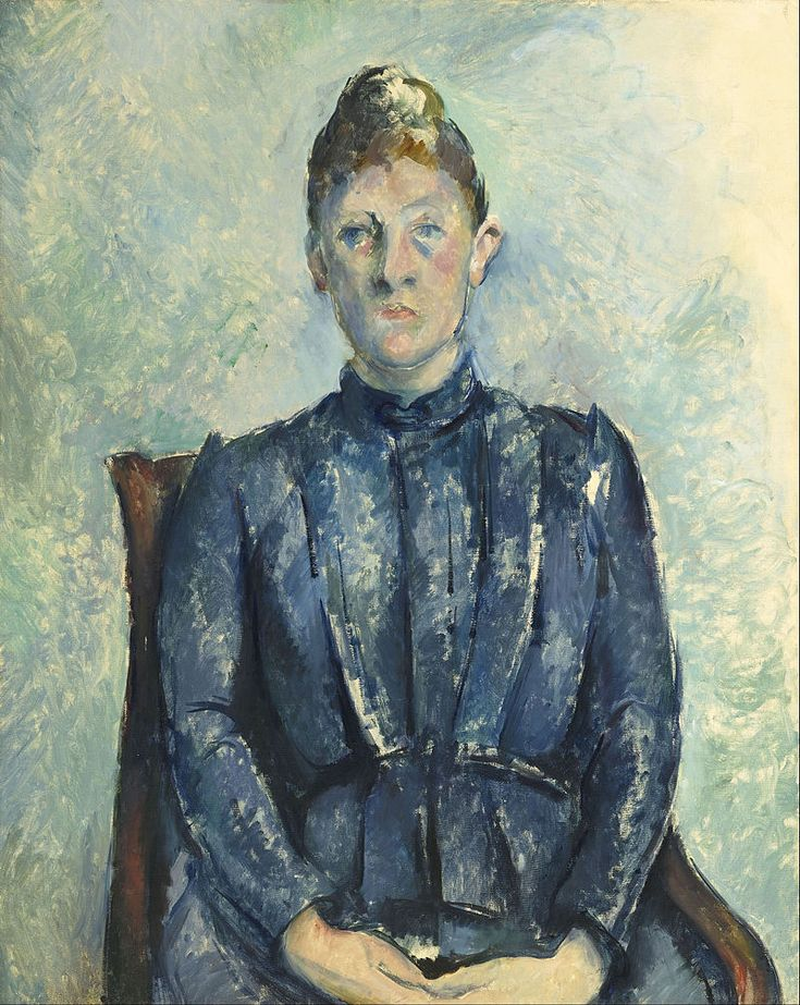 """Paul Cézanne """"Ritratto di Madame Cézanne"""", 1890.  Musée de l'Orangerie di Parigi."""