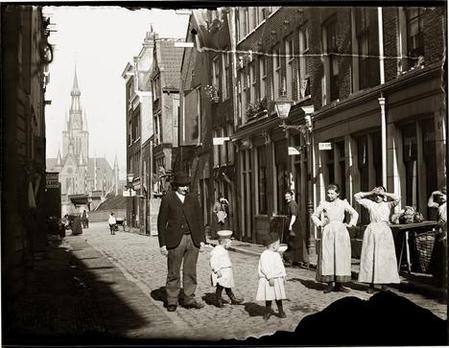 Grote Houtstraat, Amsterdam, door Jacob Olie, 21 september 1894