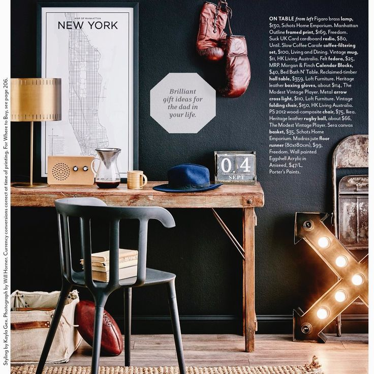 Father's Day is almost here and in this months Australian House & Garden, the beautiful form of these design forward gifts are heightened with the luxuriously deep background of Porter's Paints colour Aniseed. Beautifully styled by Kayla Gex Stylist and photography by Will Horner!