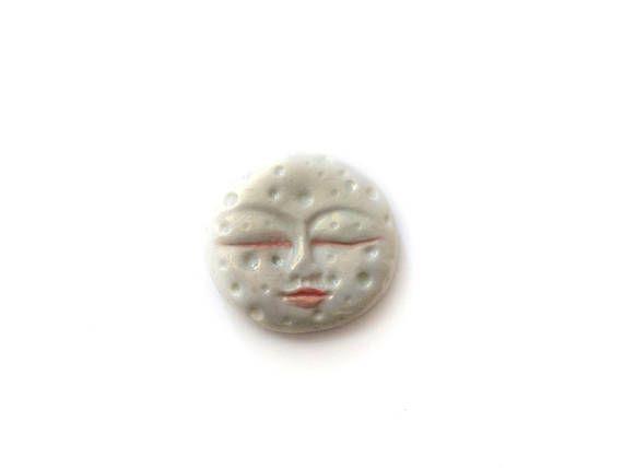 White Full Moon Moon with face Round White moon White Moon