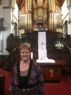 Bev is a regular at our Friday Services. She would love to welcome you to them as well.