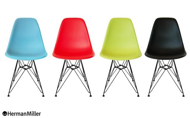 Eames Shell Side Chair DSR Black Base(イームズ シェルサイドチェア DSR ブラックベース)