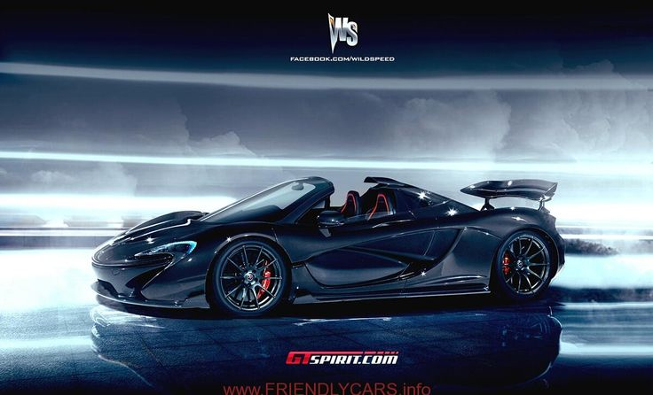 cool mclaren p1 blue image hd Wild Speed McLaren P1 Roadster