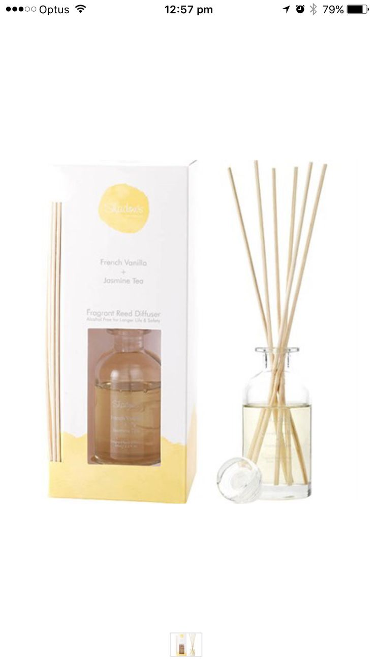 Reed Diffuser French Vanilla & Jasmine Tea 65ml  #madeinaustralia #thefragranceroom #candles #sale #Bestprices #soy #Luxury #diffuser #reed #oils