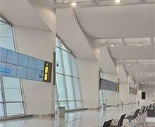 Hunter Douglas a réalisé le plafond du nouveau bâtiment reliant les terminaux A et B de l'aéroport de Bruxelles