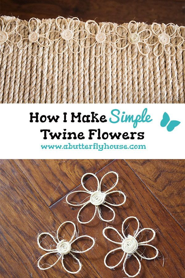 How To Make Easy Diy Twine Flowers Craft Ideas Pinterest Twine