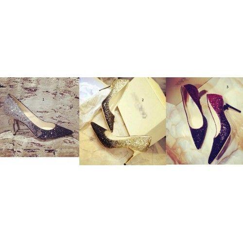 Lusso Size 33 34 35-43 paillettes Gala partito scarpe pompe Tacchi Blingbling