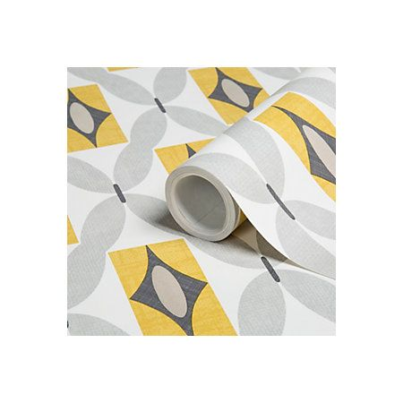 Colours Orsino Yellow Geometric Wallpaper