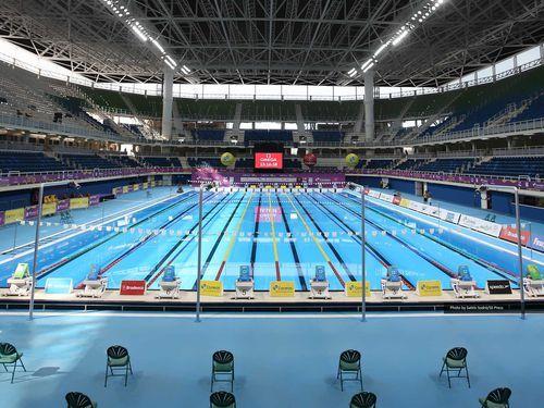 Maria Lenk Aquatics Center Preparing For Olympic Swimming Events Olympic Swimming Olympic Games Usa Swimming