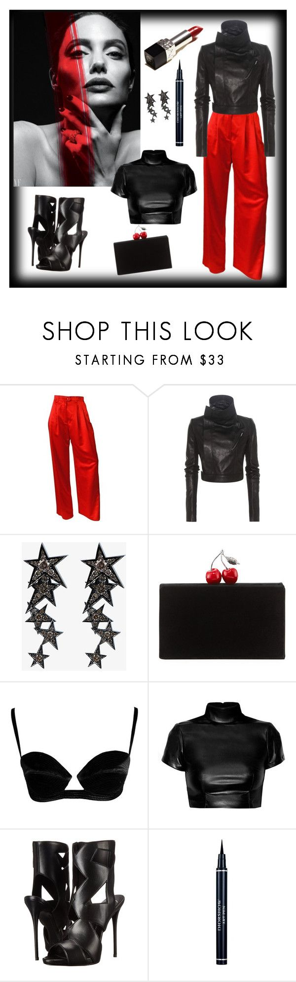 """No tomorrow"" by fpb173 ❤ liked on Polyvore featuring ESCADA, Rick Owens, Luis Miguel Howard, Edie Parker, Giuseppe Zanotti and Christian Dior"