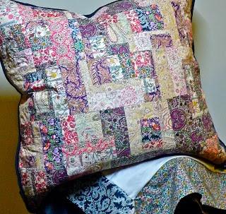 liberty patchwork pillow
