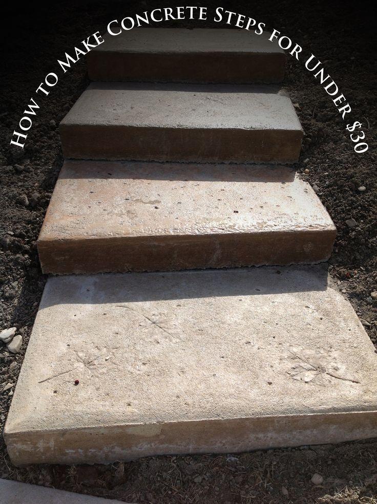how to make concrete steps | Inexpensive DIY Concrete ...