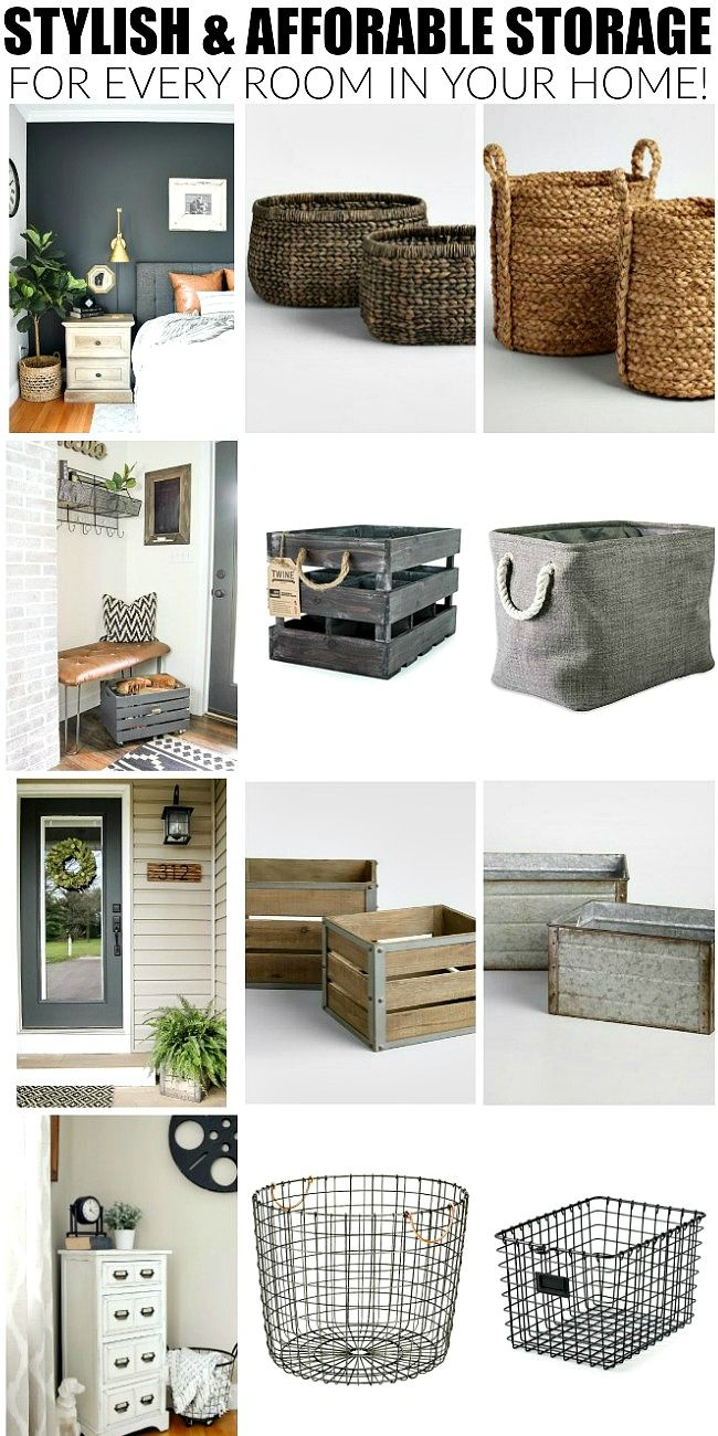 35+ of the best affordable baskets, bins and crates for organizing your entire house! #storage #organizing #organize