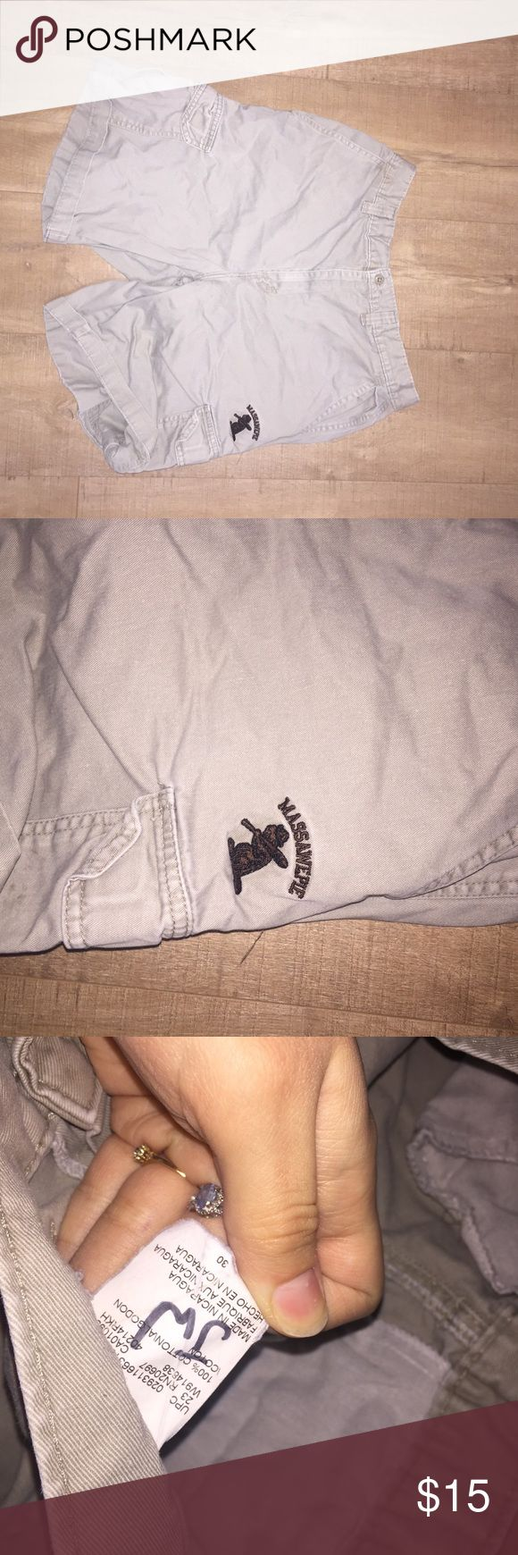 Dickies Shorts These have a massawepie scout camp patch on them. Waist size 30. Some signs of wear (see pictures). Dickies Shorts Cargo