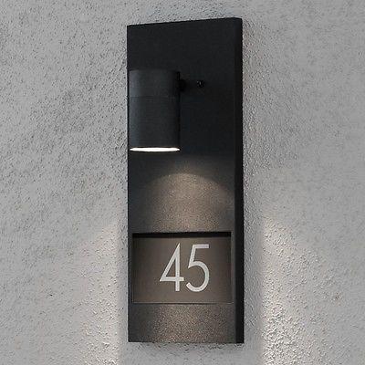 Wandleuchte Hausnummer Beleuchtung Außenleuchte Wandlampe Wand Lampe Leuchten in Heimwerker, Lampen & Licht, Hausnummernleuchten | eBay