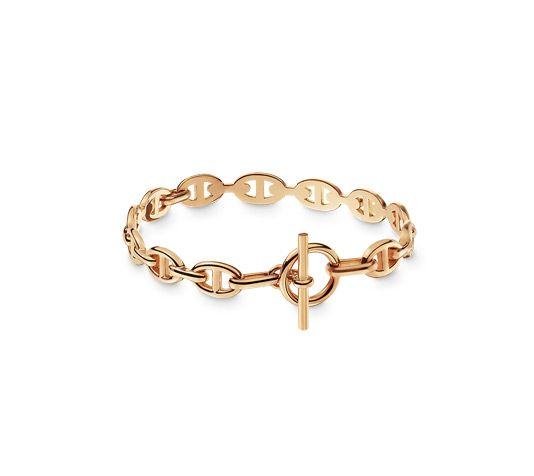 Chaîne d'Ancre Enchaînée Bracelet in pink gold, small model. Wrist size: 14.5-15 cm