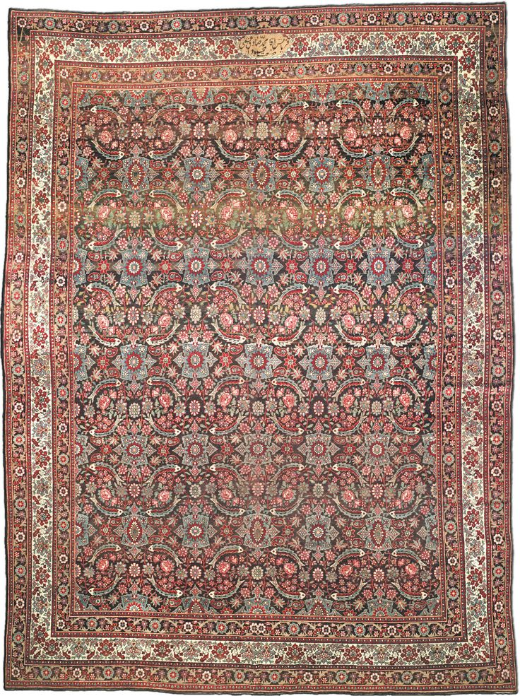 Antique Persian Tabriz Rug CarpetLiving Room