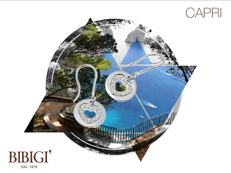 #Bibigi | Collezione #Capri | Orecchini in oro bianco e diamanti.