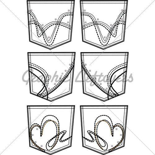 decorer la poche arriere d un geans - Le blog de coupe-couture