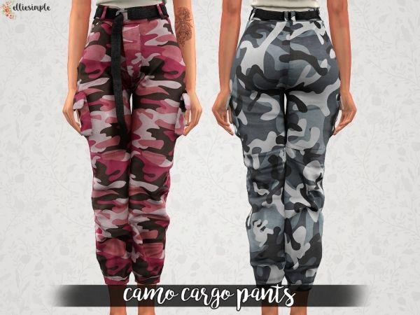d2837b966aa The Sims 4 Elliesimple - Camo Cargo Pants