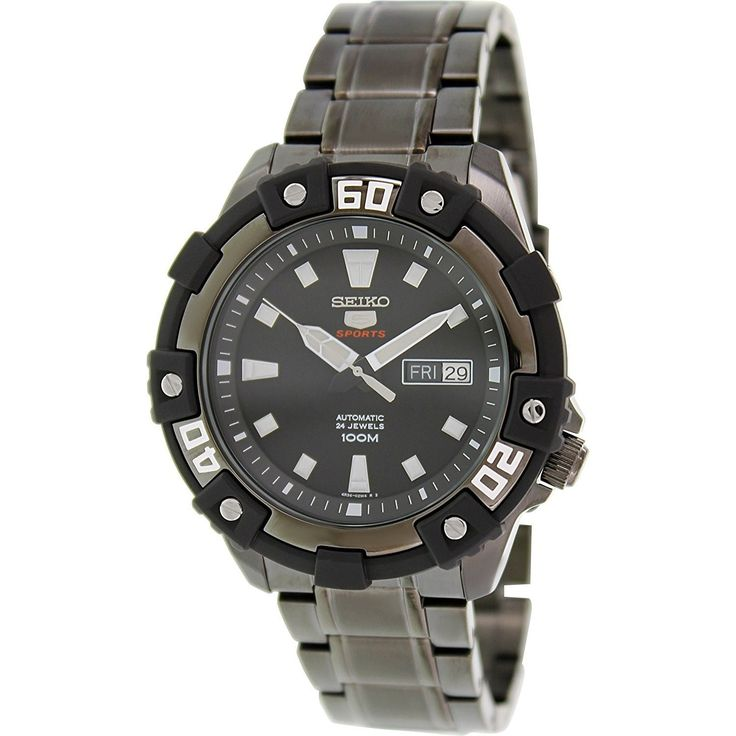 Seiko Men's SRP477 Automatic Black Stainless Steel Watch