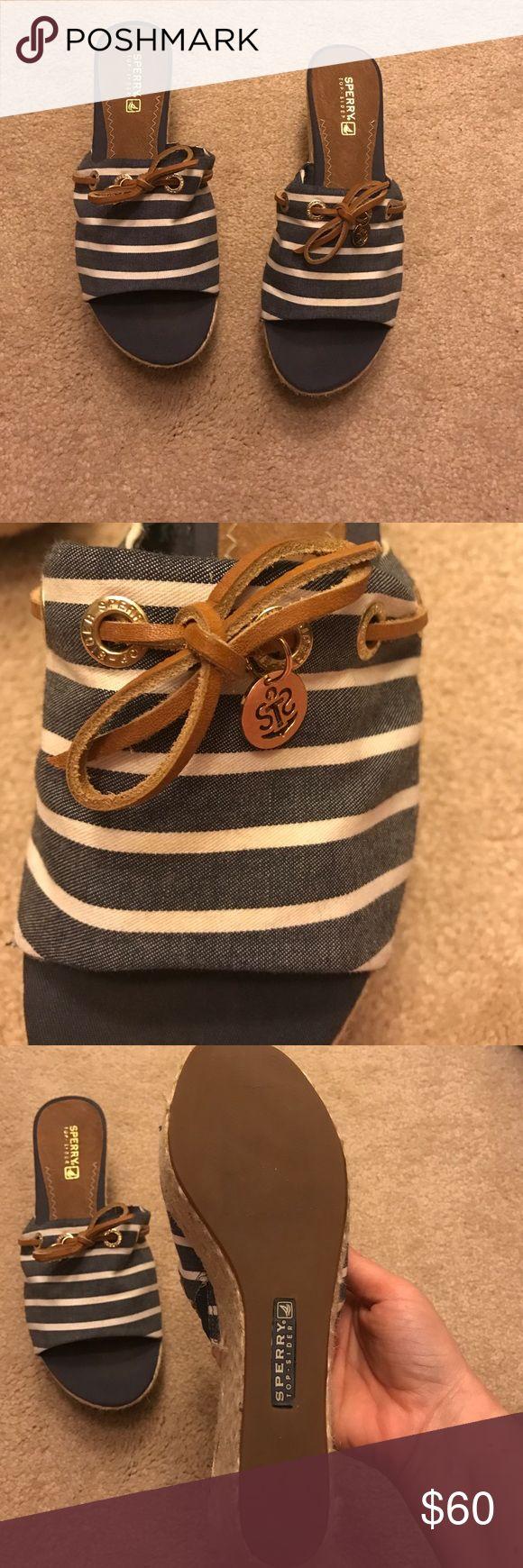 Never Worn Sperry Sandals Cute, nautical Sperry slide sandals- Never worn! Sperry Top-Sider Shoes Sandals