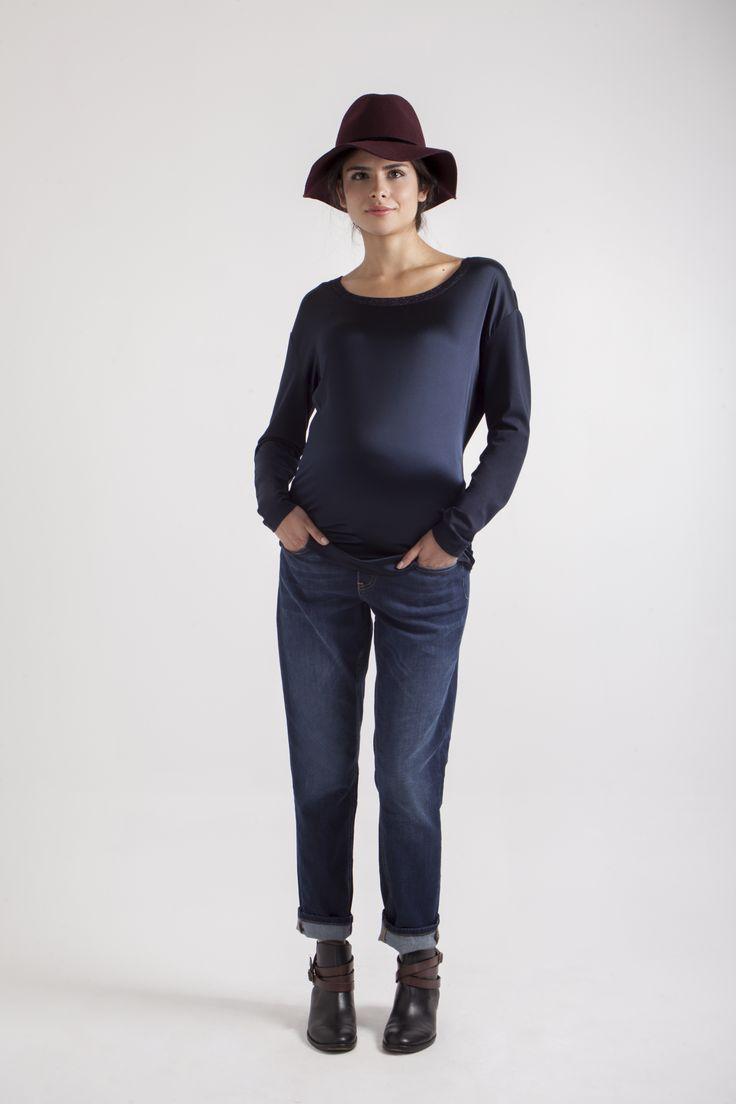 Blusa de seda QM & Jeans Boyfriend QM. 1ra colección Ohmamá.