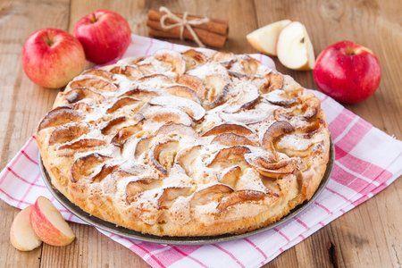Obrátený jablčný koláč -  lepšie chutí po pár hodinách :)