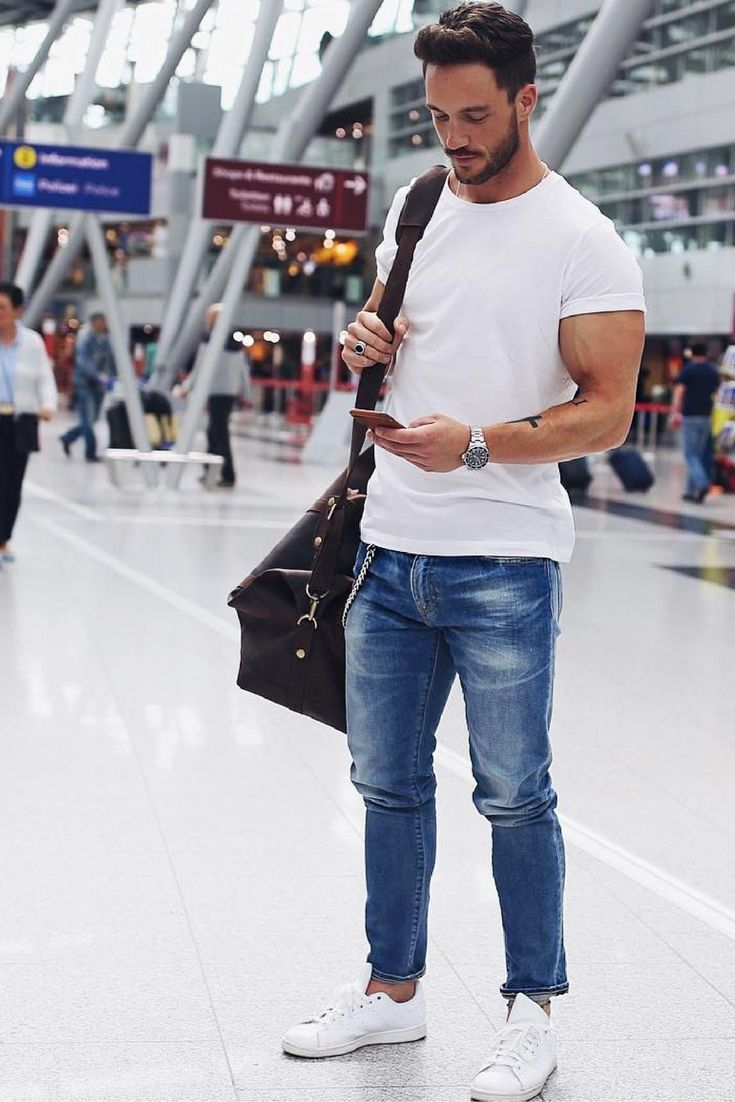 Best 75+ white shirt blue jeans images on Pinterest | Man style Menu0026#39;s fashion styles and Menu0026#39;s ...