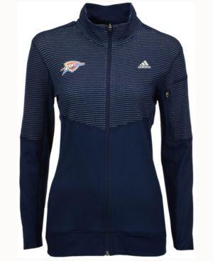 adidas Women's Oklahoma City Thunder Team Logo Jacket - Blue S