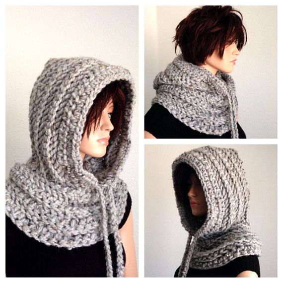 Crochet Scoodie. Hooded Cowl. Crochet Chunky by Africancrab, $40.00