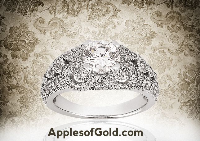 Check Out this 0.89 Carat #Vintage Style #Engagement #Ring