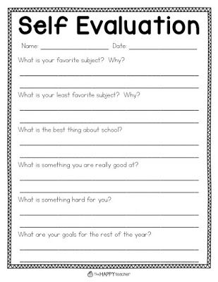 Best 25+ Student self evaluation ideas on Pinterest Student led - performance self evaluation form