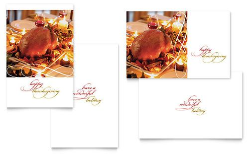 Happy Thanksgiving Greeting Card Template by @StockLayouts