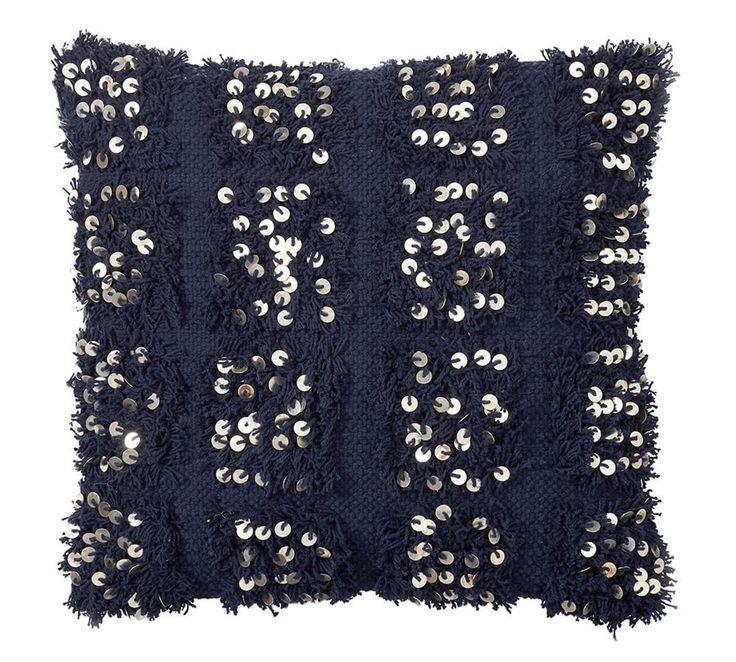 Navy Moroccan Wedding Blanket Cushion Cover