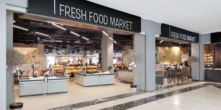E-Line #LED è ideale per illuminare le aree del negozio di #design FRESH FOOD MARKET al Cairo, Egitto http://ow.ly/MN6830bF8yr Oktalite - Referenze - food