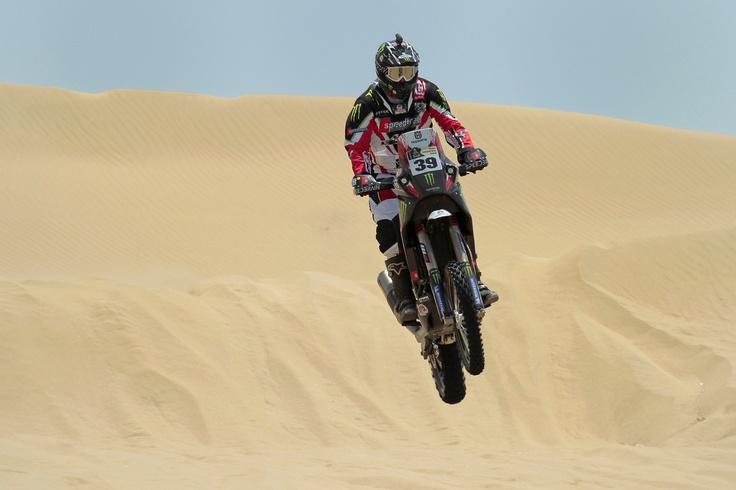 Matt Fish jumping at Dakar 2013