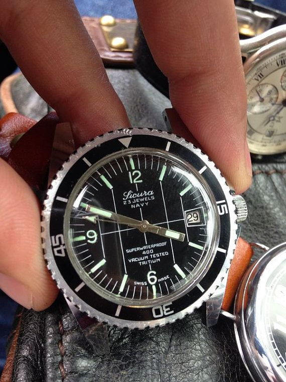 Breitling made Sicura Navy 400 submariner type diving by Fixd