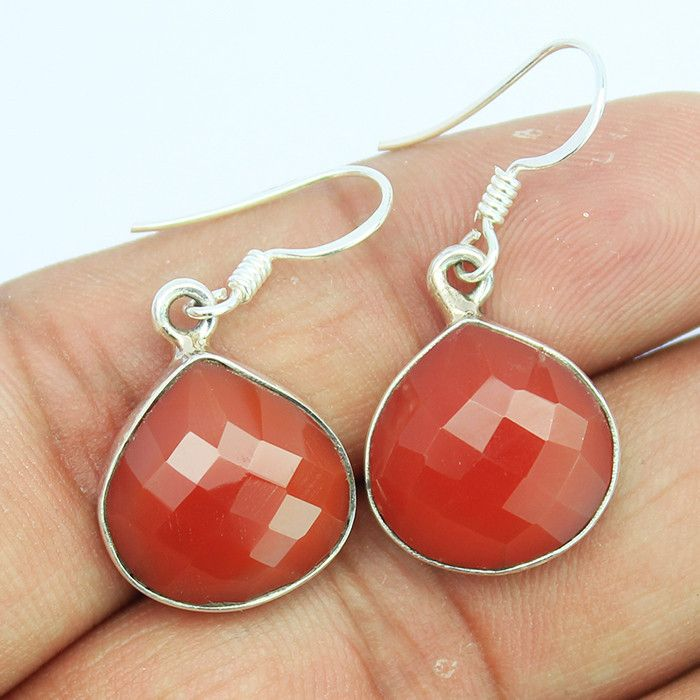 Red Onyx Sterling Silver Earrings – Jewels Exports