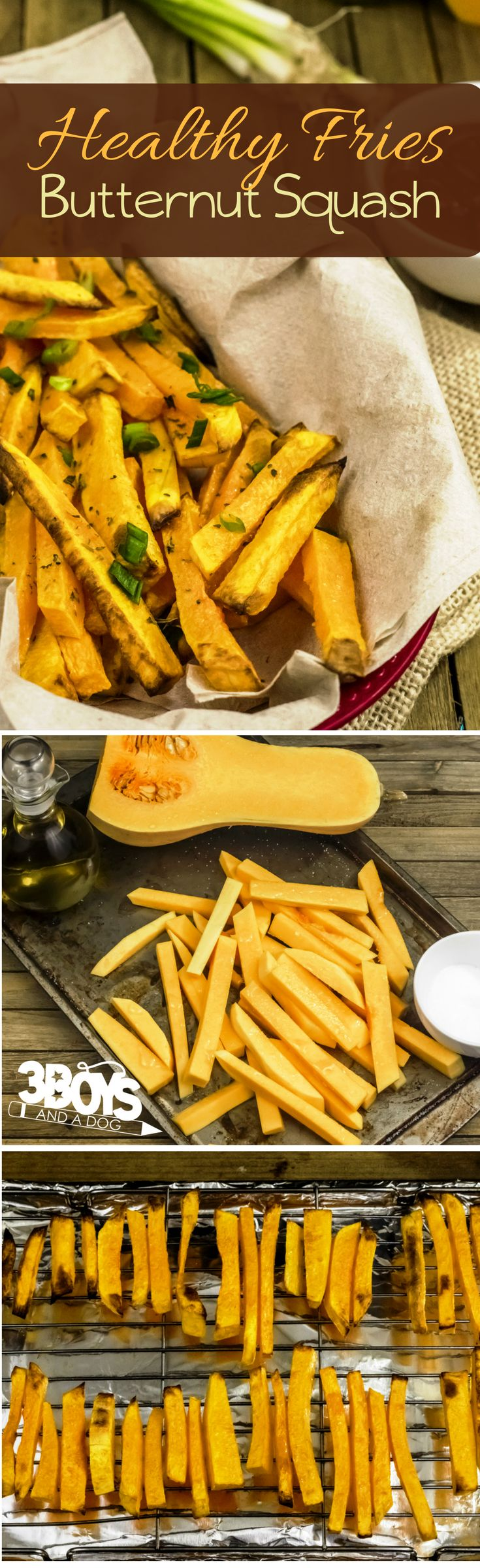 If you are a french fry junkie like me, you will need to supplement your greasy craving for a healthier version of fries!  This is where these delicious and Healthy Butternut Squash Fries come in!