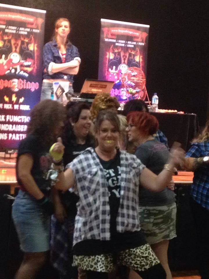 Competing for female Bogan of the night!