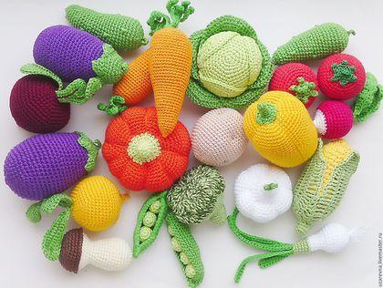 Еда ручной работы. Ярмарка Мастеров - ручная работа. Купить Вязаные овощи.Игровой набор.. Handmade. Фрукты, вязаные игрушки